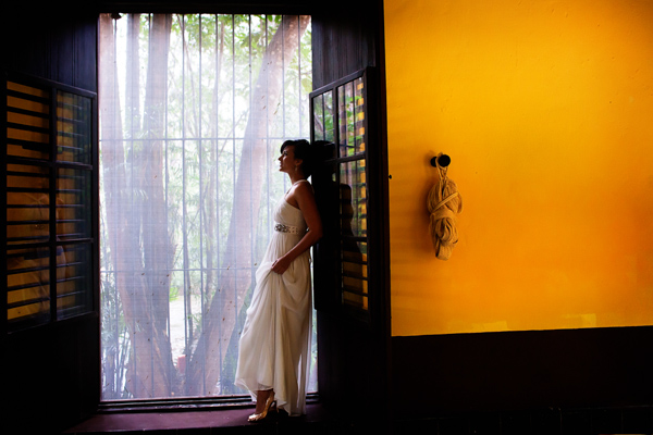 bride in Mexican house