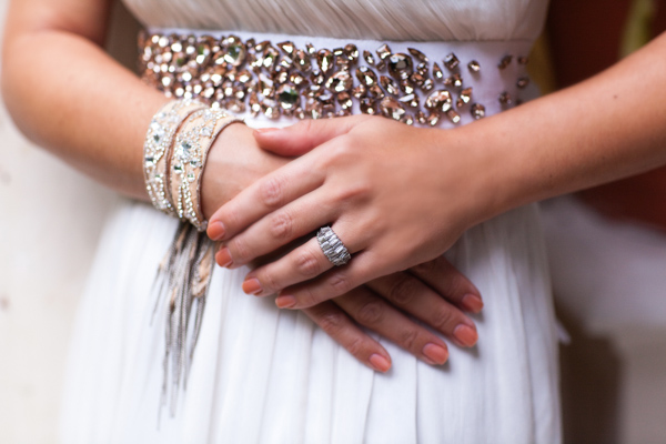 bride with jewelled belt