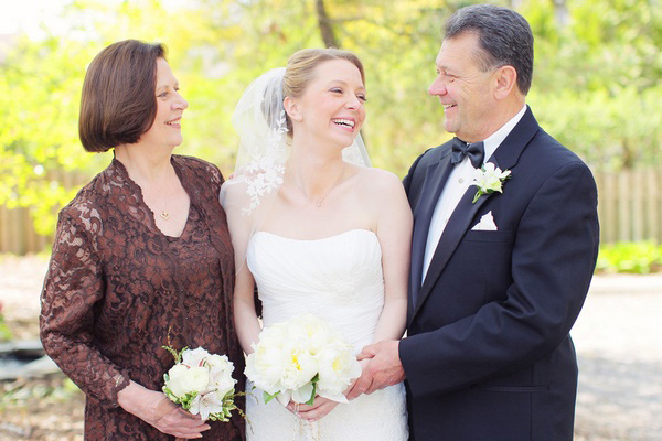 New Jersey bride with parents