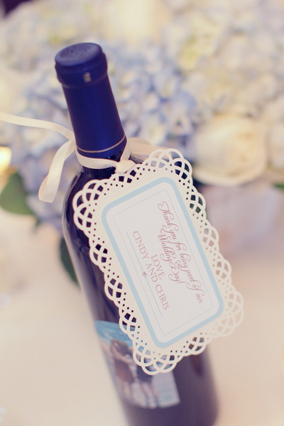 wine wedding favor