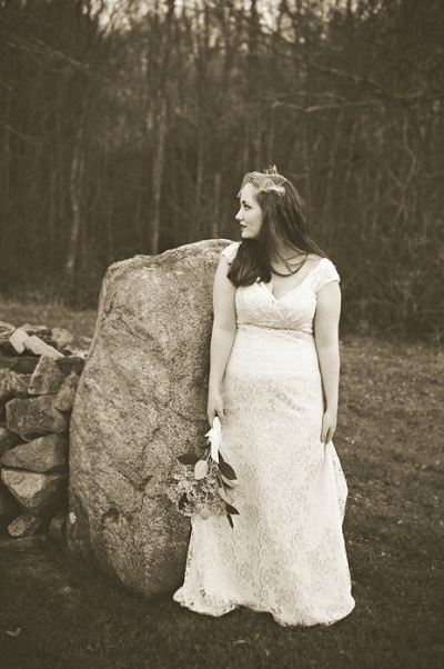sepia bride portrait