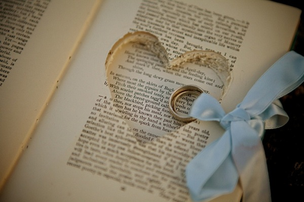 book wedding ring holder
