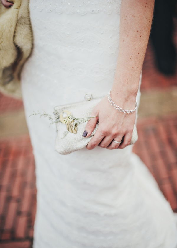 bride with clutch