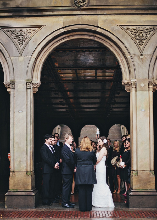 Intimate Bethesda Terrace wedding ceremony