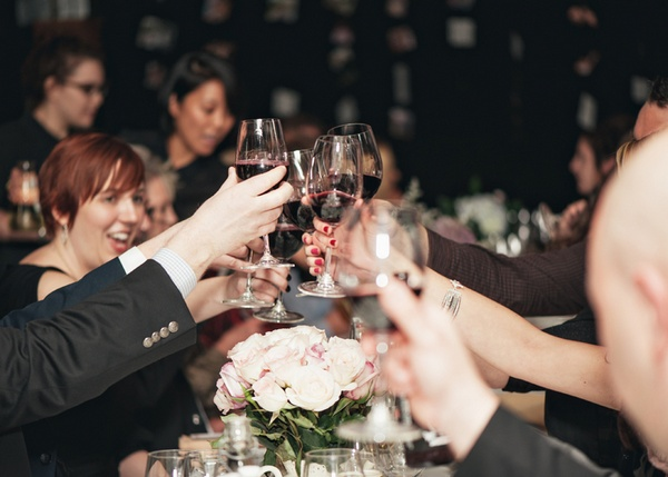 wedding toast at City Winery