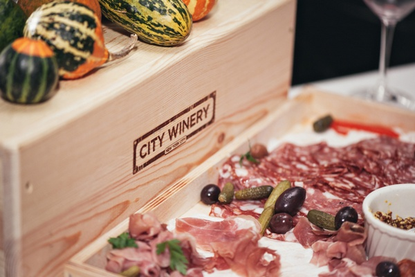 City winery wedding charcuterie