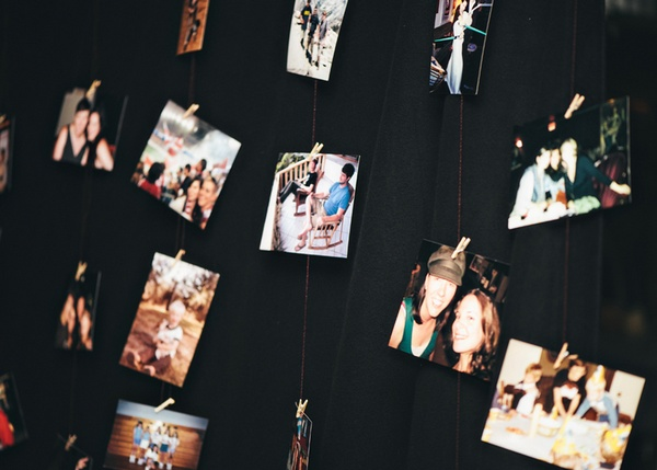 hanging photo garlands