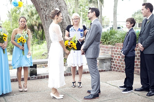 Outdoor Florida wedding ceremony