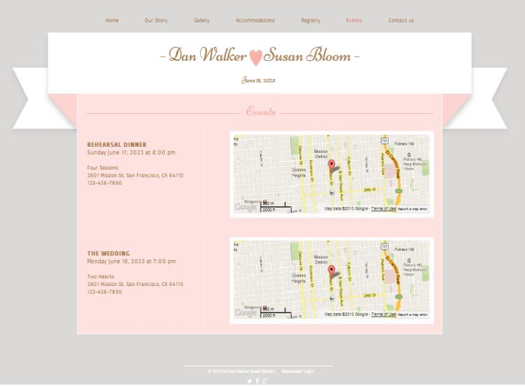 Wedding Website Ideas