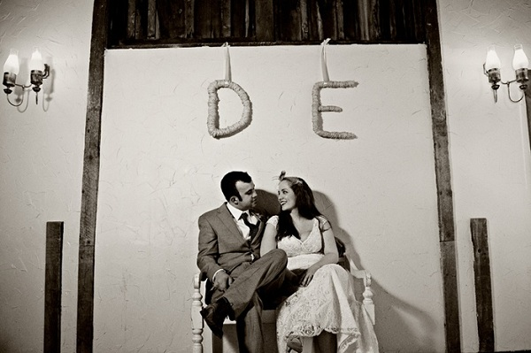 real-intimate-wedding-couple-portrait-monograms-diy