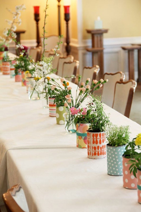 Diy wedding plant favors are perfect for a green wedding - Deco de table campagnarde ...