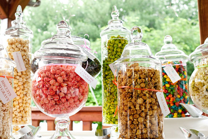 Popcorn-Station for weddings
