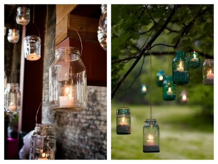 mason-jar-lanterns-candles-wedding