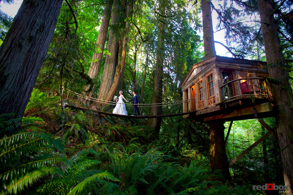 The Wedding Of Laura Tim At Treehouse Point In Issaquah Wash On Sunday