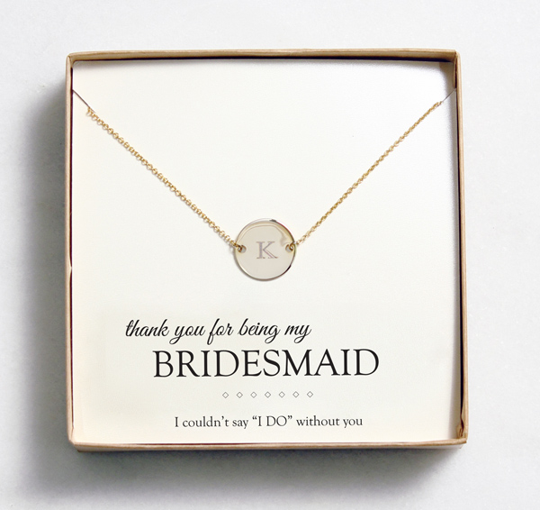 Wedding Day Gifts For Bridesmaids : bridesmaid-gift-idea-necklace-customized