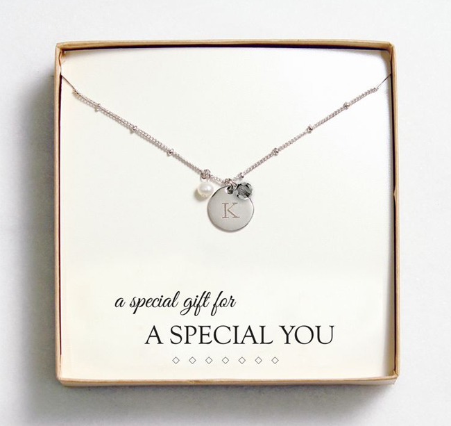 message favour jewellery card image itm necklace on bridesmaid choker is pearl s gift loading