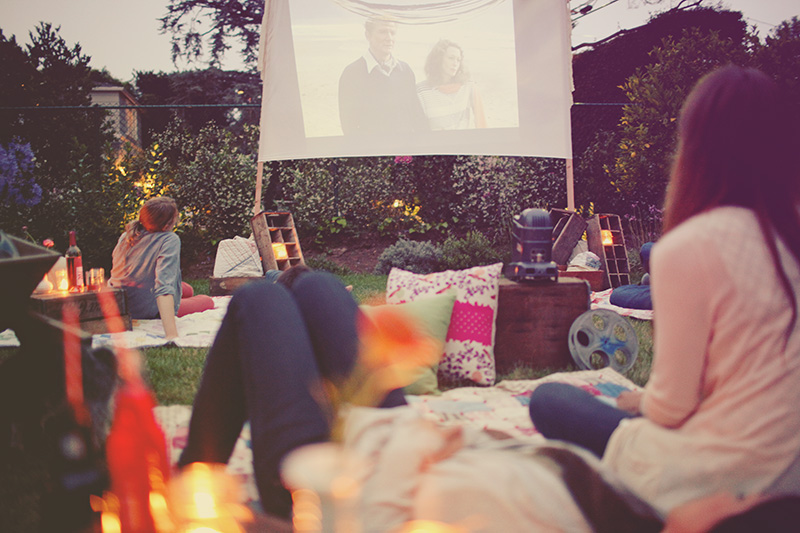 Bachelorette Party Ideas | Backyard Movie Night and Slumber Party