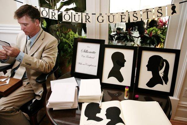 Silhouette Artist For Weddings