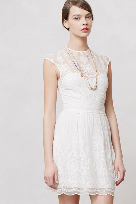 10 Great Elopement Dresses | Lace Anthropologie Dress