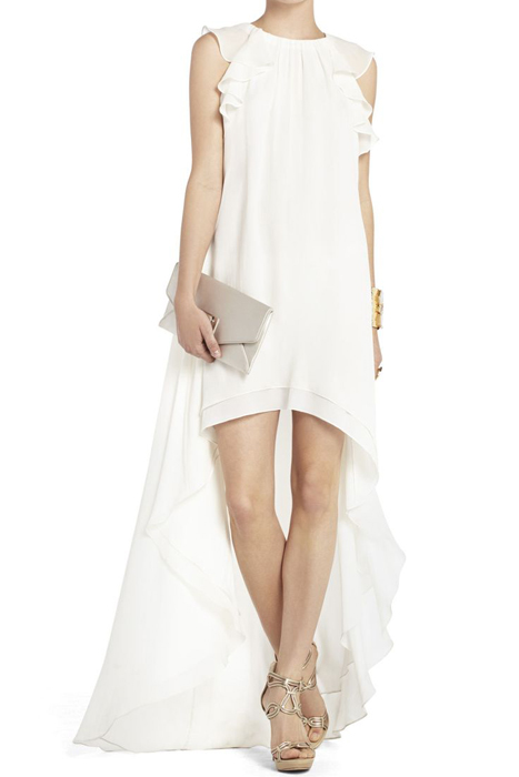 10 Alternative Wedding Dresses under $500 | BCBG Fais Silk High-Low Dress