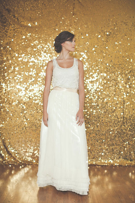 10 Alternative Wedding Dresses under $500 | KT Jean Bridal Tulle Skirt