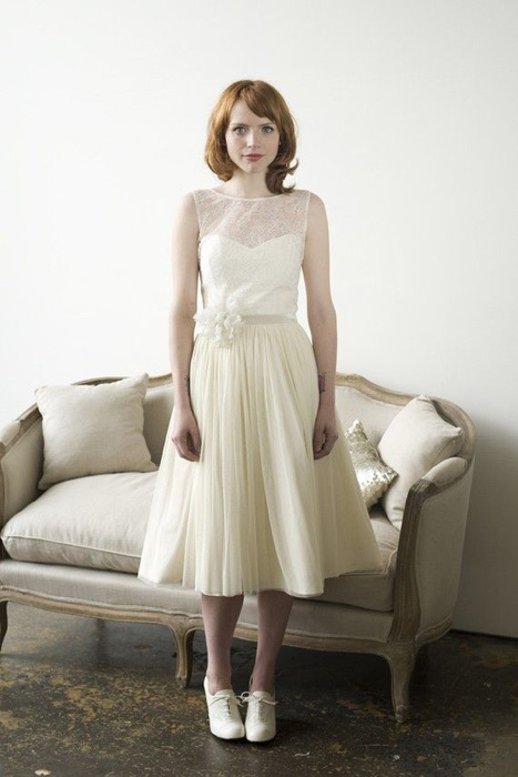 10 Great Elopement Dresses | Elizabeth Dye Tea Length Dress