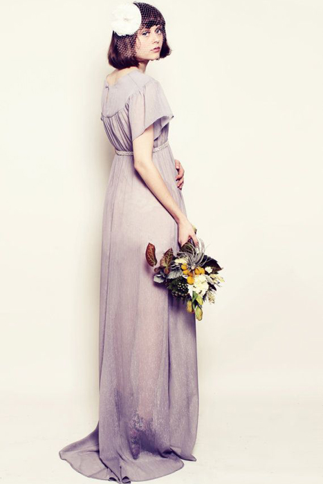 10 Alternative Wedding Dresses under $500 | Grey Chiffon Gown
