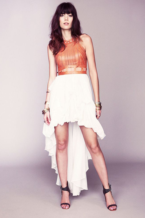 10 Great Elopement Dresses   Free People Leather Bustier Dress