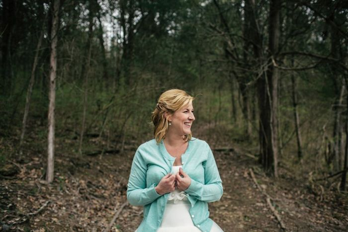 intimate tennesee wedding - bride