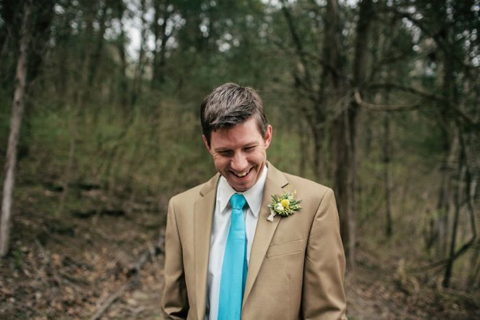 intimate tennesee wedding - groom