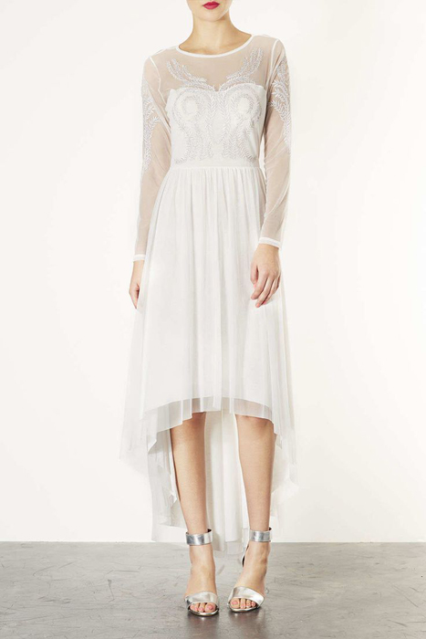 10 Alternative Wedding Dresses under $500  | Topshop Mesh Embroidery Dress