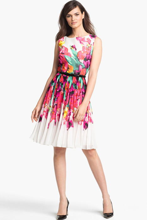 Floral and Printed Bridesmaid Dresses | Adrianna Papell Print Fit & Flare Dress