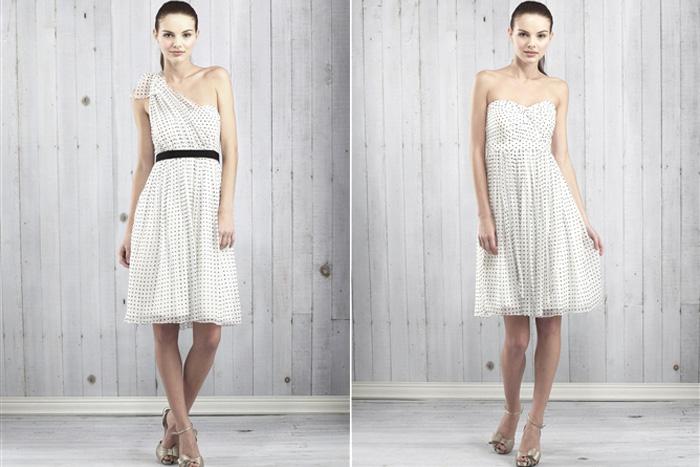 Floral and Printed Bridesmaid Dresses   Jenny Yoo Keira Classic Dot Dress
