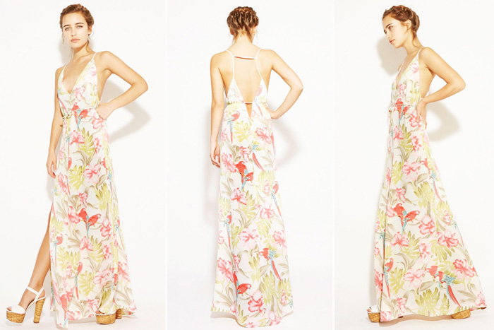 Floral and Printed Bridesmaid Dresses | Reformation Citrine dress in Parker Posey Print