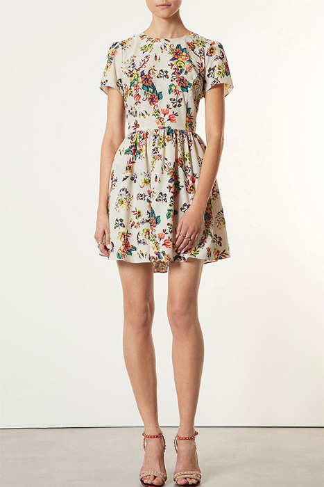 Floral and Printed Bridesmaid Dresses | Topshop 'Florence' Sampler Print Dress
