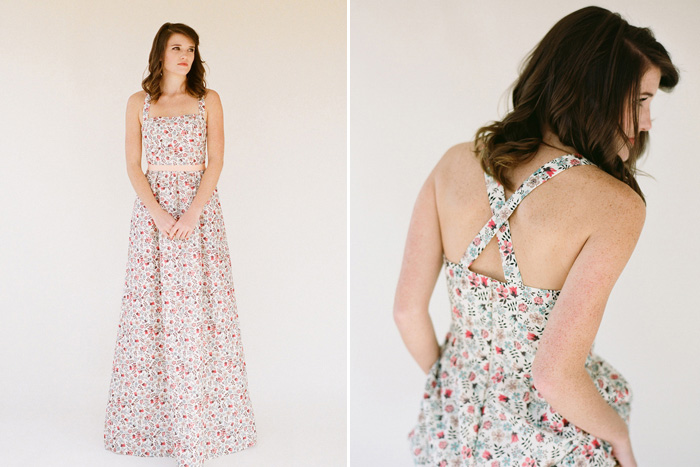 Floral and Printed Bridesmaid Dresses | Whitney Deal Lilium Dress in Edenham Light Pattern