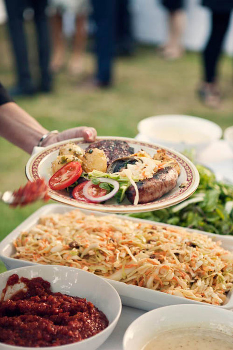 Outdoor BBQ Weddings can help save money on your wedding reception.