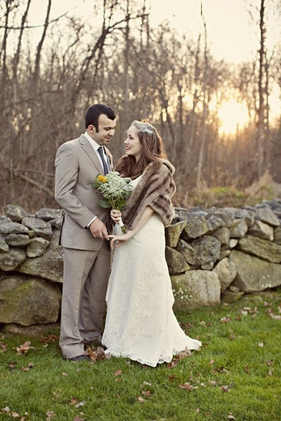DIY Farm Wedding in Wesport MA for 10000 Dollars - Couple Photo