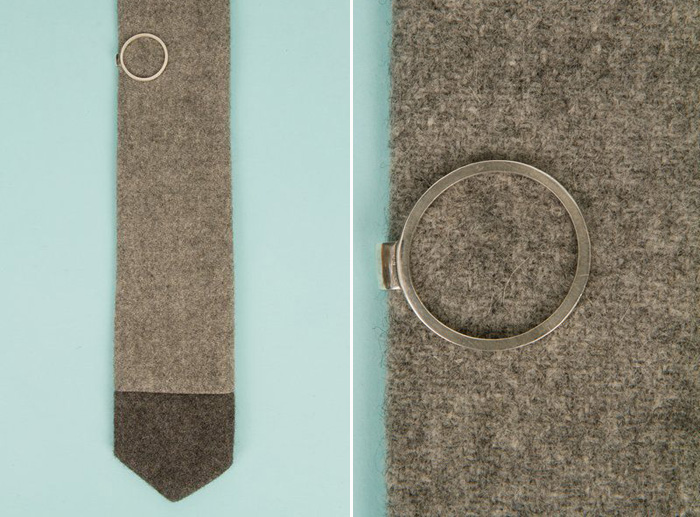 Stylish Groom Accessories | Circle Tie Pin