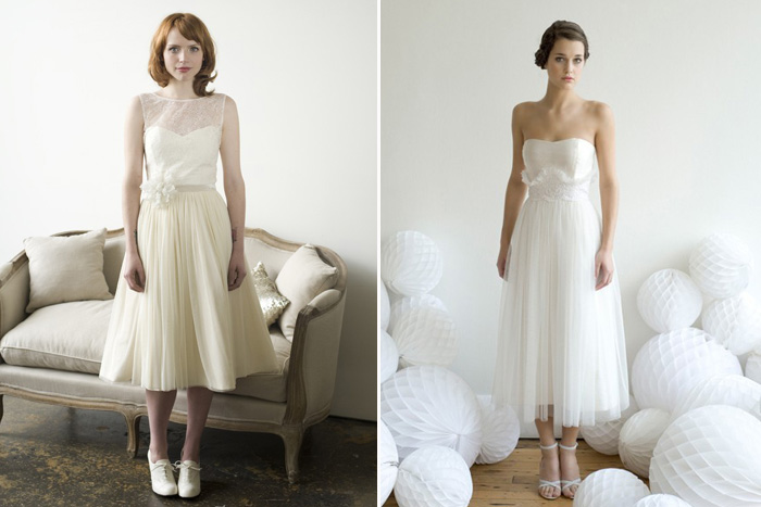 Elizabeth Dye Tea Length Wedding Dresses