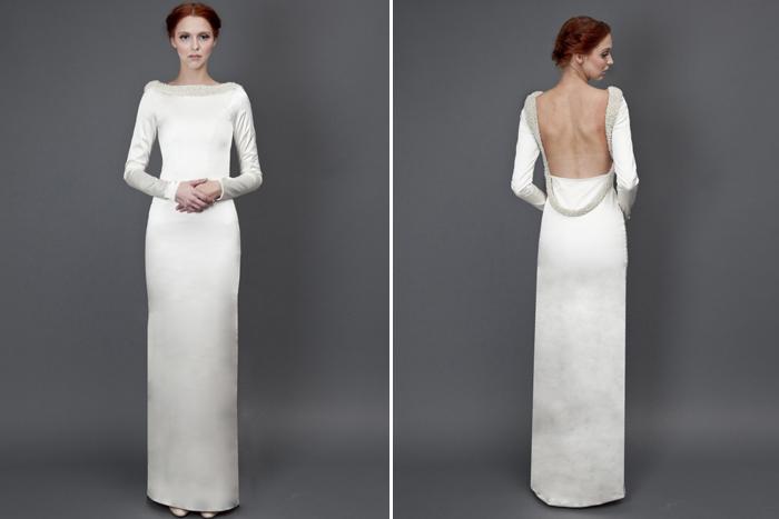 Heidi Elnora Olive Oil wedding Gown