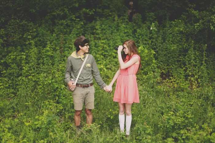 Moonrise Kingdom Engagement shoot