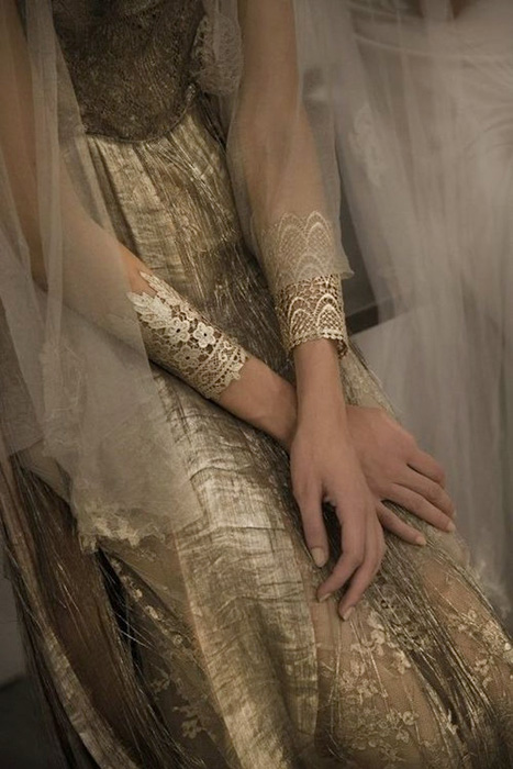gold lace cuff bracelets
