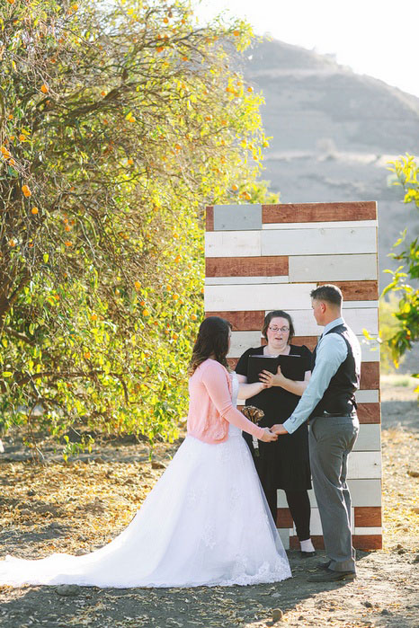 California elopement ceremomy