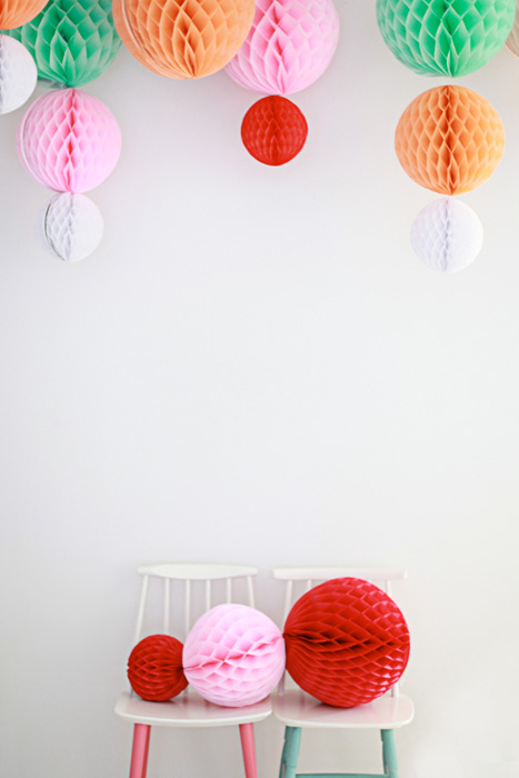 hanging honeycomb decor