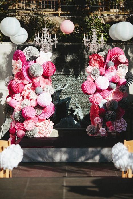 honeycomb wedding altar