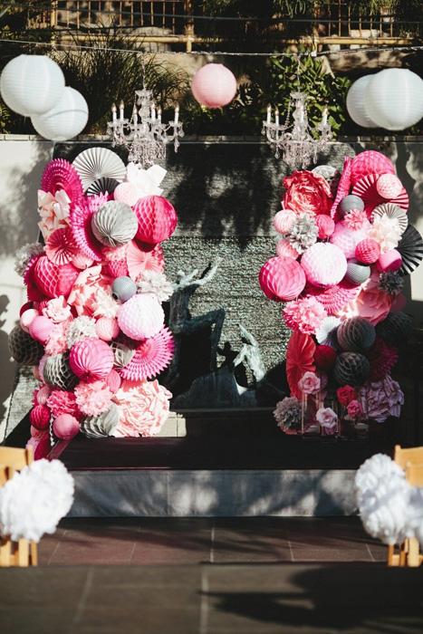 honeycomb wedding altar