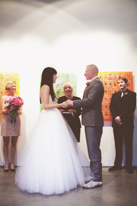 gallery wedding ceremony