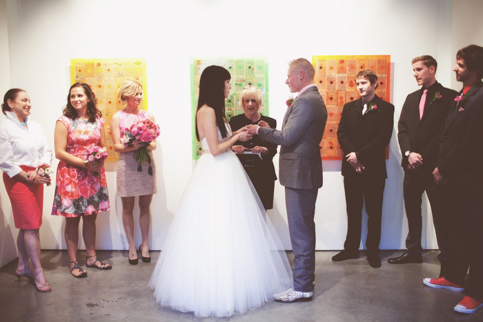 California gallery wedding ceremony