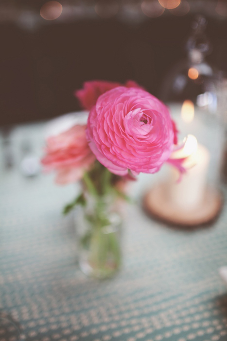 ranunculus wedding centerpiece
